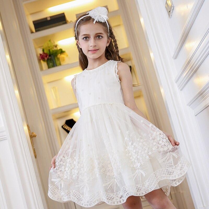 फुर्तीला लड़कियों DRESS सफेद - बच्चों के कपड़े