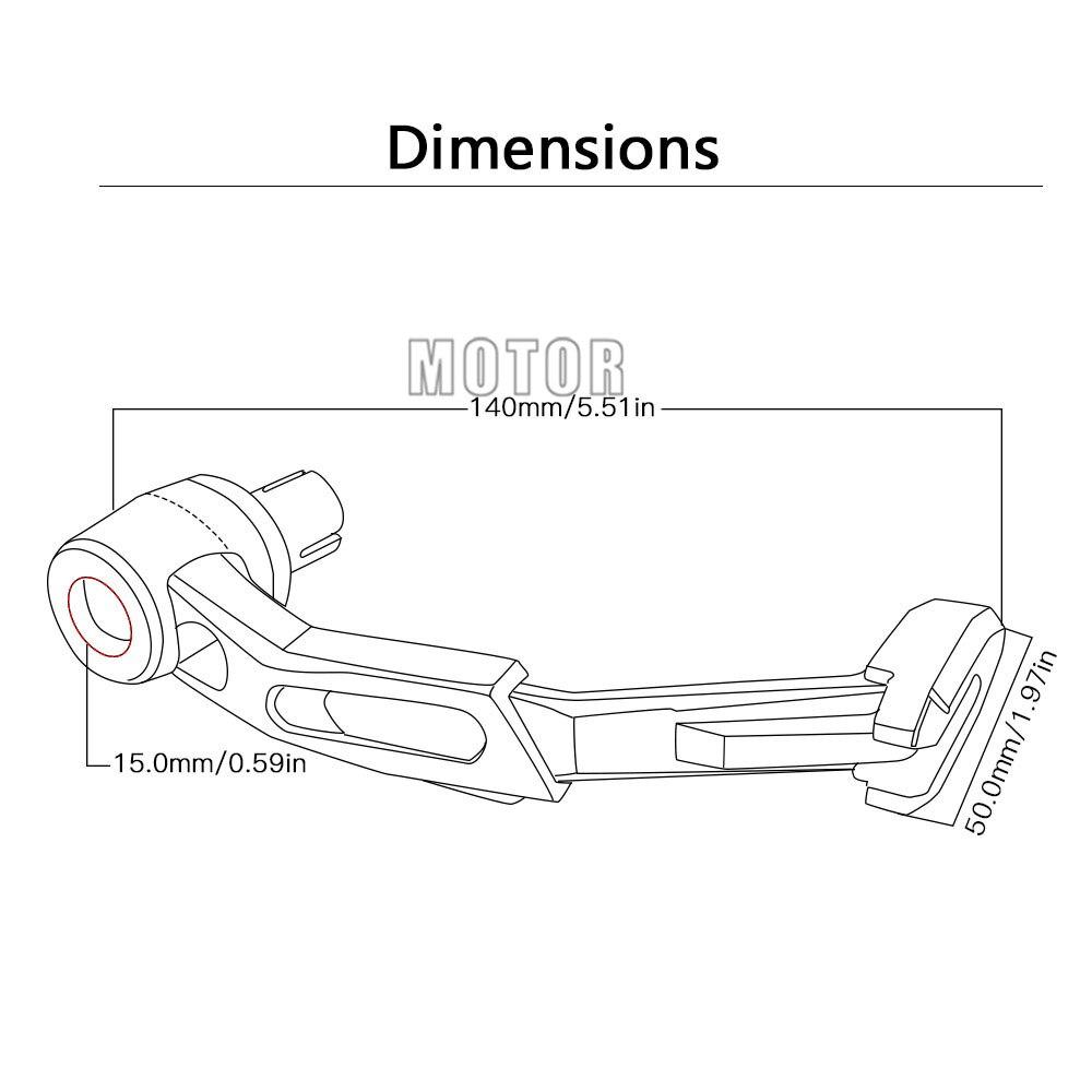 Universal Motorcycle Proguard System Brake Clutch Levers Protect Guard For Aprilia BMW Ducati Honda Yamaha Kawasaki Suzuki KTM