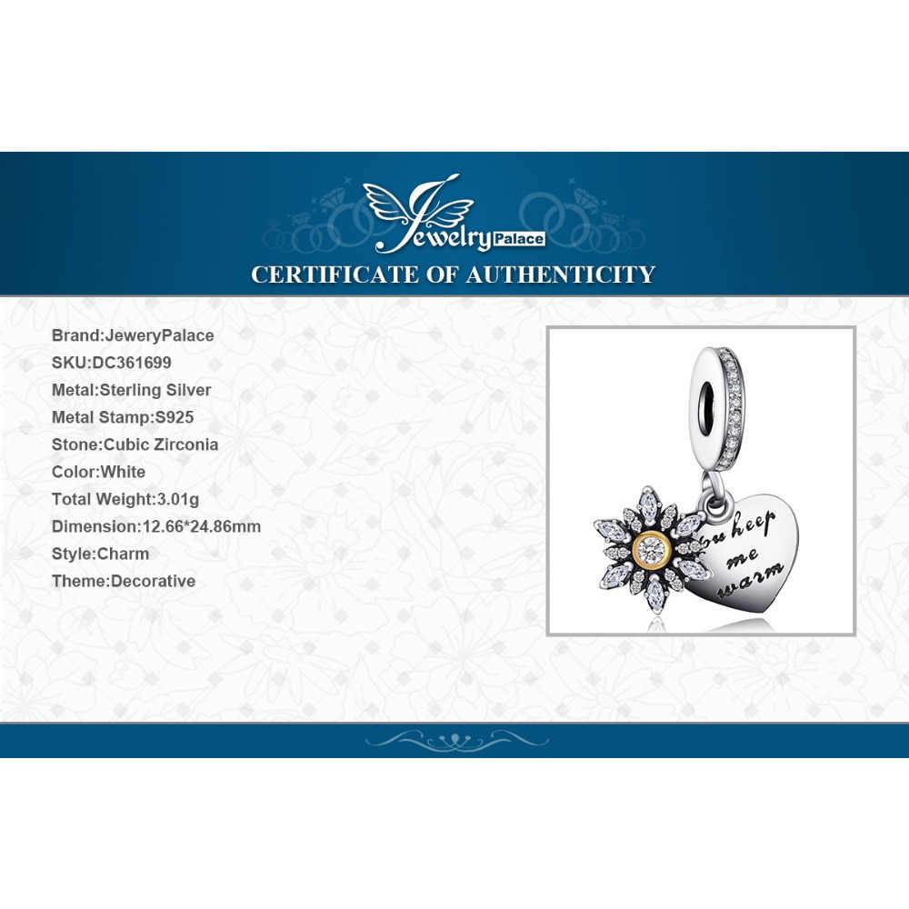 Jewelrypalace 925 Sterling Silver Glitter Fiocchi di Neve Cuore Braccialetti con ciondoli regali Per Lei Gioelleria raffinata e alla moda regalo Pendenti e Ciondoli Metallo