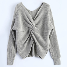 Modny Sweter Plecione Plecy – HIT!