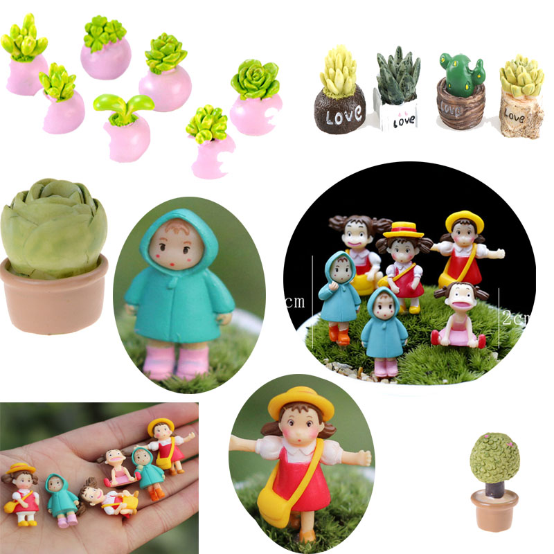 1:12 miniature green plant pot dollhouse garden accessory for kids doll gifts LE