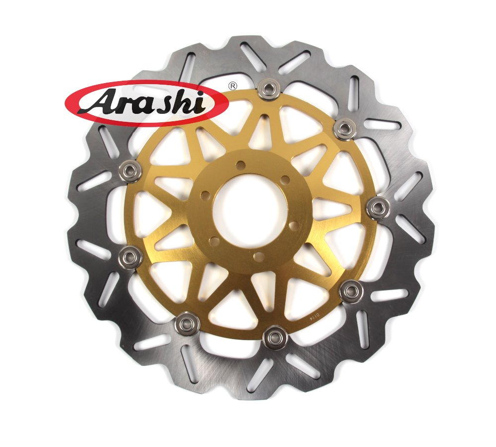 Arashi 1PCS CNC Floating Front Brake Disc Brake Rotors For MOTO GUZZI NEVADA 750 2012 2013 / NEVADA 750 2003 2004 2005 2006 2007 pair steel front brake rotors disc braking disks for moto guzzi norge t gtl 850 2007 breva 1100 2005 2007 stelvio 1200 2008 2009