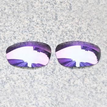 E O S spolaryzowane wzmocnione wymienne soczewki do okularów przeciwsłonecznych Oakley Split-fioletowe fioletowe lustro spolaryzowane tanie i dobre opinie Eye Opening Stuff Poliwęglan Okulary akcesoria Fit for Oakley Split Jacket Frame UV400 One size inches As your choice Reduces glare and impact resistant