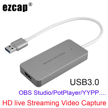 1080P HDMI to USB 3.0 Type C Video Capture Card Game Recording For PS3 PS4 XBOX ONE Conference Windows MAC PC OBS Live Streaming