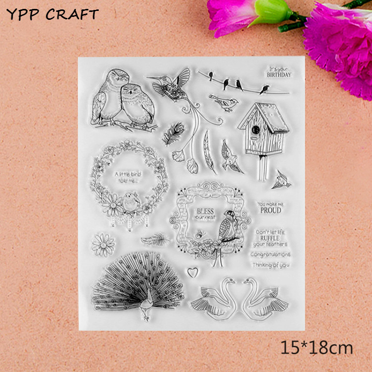 YPP CRAFT Cute Animals Transparent Clear Silicone Stamps for DIY Scrapbooking/Card Making/Kids Fun Decoration Supplies