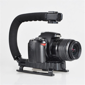 Image 3 - DV Hand Held C Shaped Shooting Video Stabilizer Hand held Low Frame Flash Stands Stabilizer