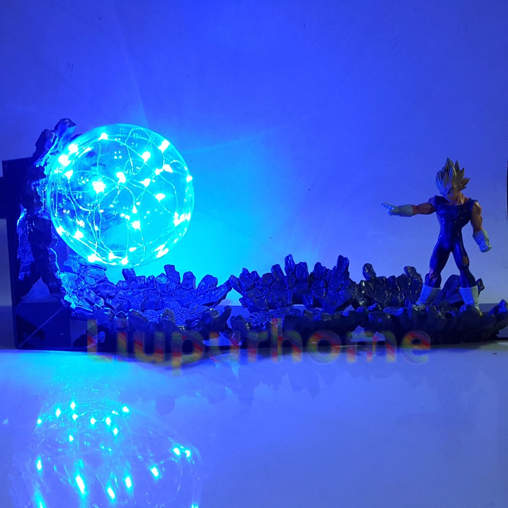 Dragon Ball Lampada Da Tavolo A Led Vegeta Super Saiyan di Alimentazione Up Illuminazione A Led Anime Dragon Ball Super Male Vegeta Luci notturne per di natale