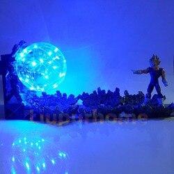 Dragon Ball Led Schreibtisch Lampe Vegeta Super Saiyan Power Up Led Beleuchtung Anime Dragon Ball Super Bösen Vegeta Nacht Lichter für Weihnachten
