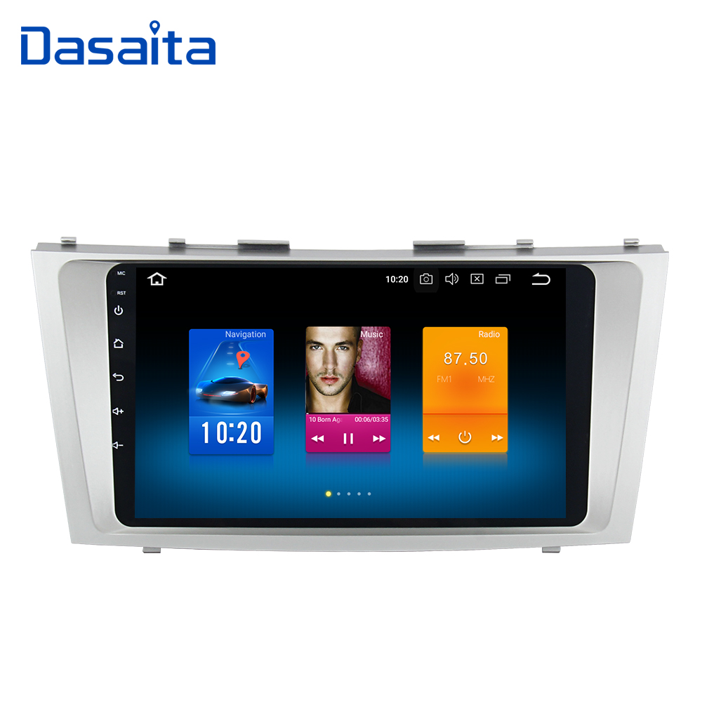 Dasaita 9 Android 8.0 Voiture Dvd Navigation pour Toyota Camry 40 2007 2008 2009 2010 2011 Voiture Stéréo Multmedia 4*50 w