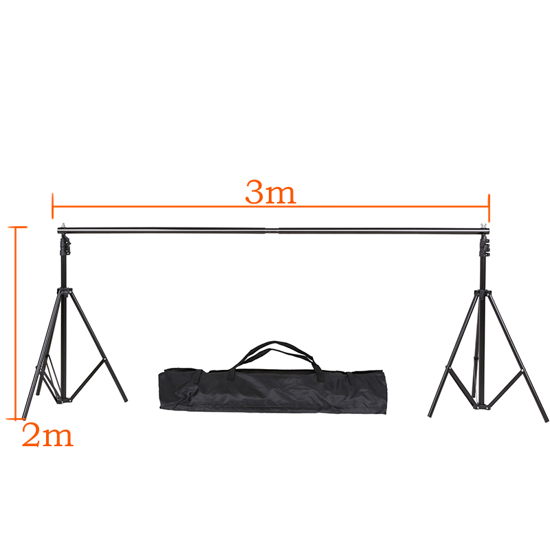 DHL Or EMS 2M X 3M(6.5ft*10ft) Photo Background Support System Stands Adjustable Backdrop Support Photography Accessories dhl ems 2 lots new sick plc im12 2b5ps zt1 a2