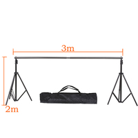DHL Or EMS 2M X 3M(6.5ft*10ft) Photo Background Support System Stands Adjustable Backdrop Support Photography Accessories Photo Studio Accessories