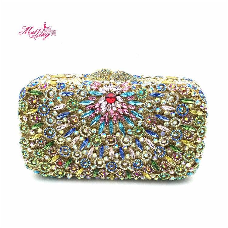 2017 Nuovo sacchetto del Pranzo di Alta Qualità Delle Signore sacchetto di mano con il Diamante inserto banchetto del vestito singolo sacchetto di spalla skew satchel sostituto - 2