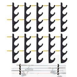 Горизонтальная рыболовная удочка для хранения 20 удочек W винты-нет удочки-10/PK