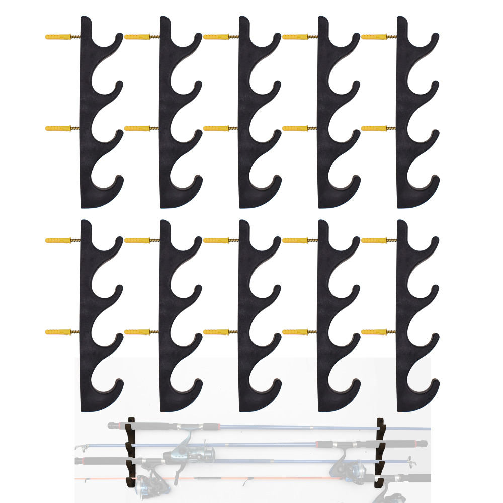 Horizontal Fishing Rod Storage Rack To Hold 20 Fishing Rods W Screws - No Fishing Rod -10/PK
