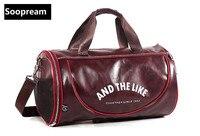 Büyük Kapasiteli Marka PU Deri seyahat çantası duffel Erkekler Seyahat İş Tote Dizüstü Bagaj Çanta Moda Crossbody voyage Bolso