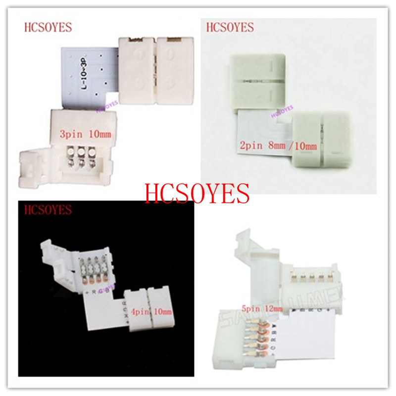 10 set L Shape LED Connector 2 pin/3 pin/4 pin/5pin solderless For 8mm/10mm/12mm 5050/ws2811/ws2812b RGB/ RGBW/ WW SMD LED Strip10 set L Shape LED Connector 2 pin/3 pin/4 pin/5pin solderless For 8mm/10mm/12mm 5050/ws2811/ws2812b RGB/ RGBW/ WW SMD LED Strip