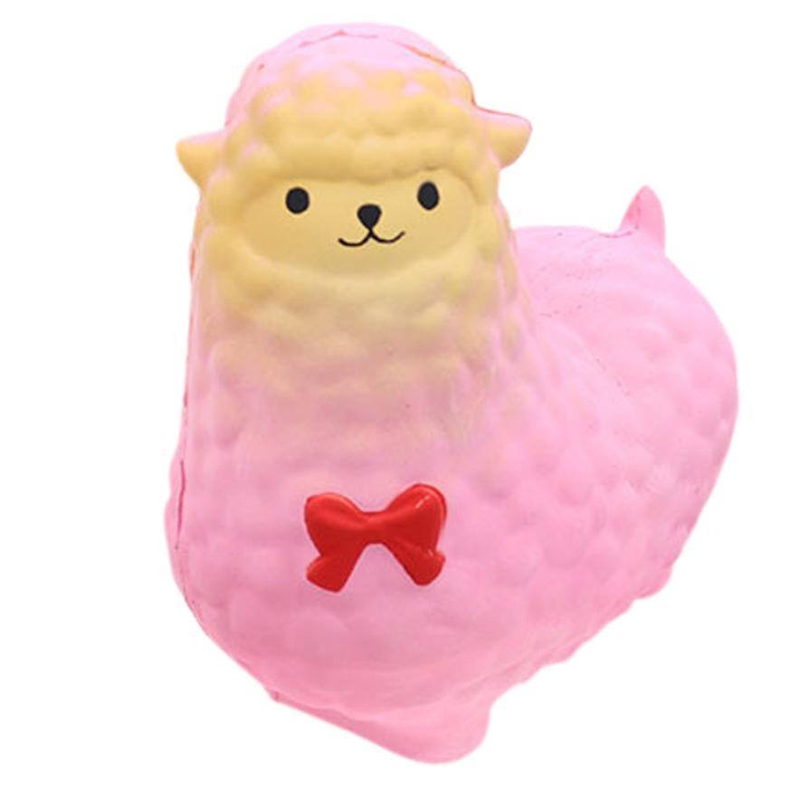 MUQGEW Jumbo Sheep Squishy Cute Toys For Kids Alpaca Galaxy Super Slow Rising Scented Fun Unbreakable Animal Toys QZ6