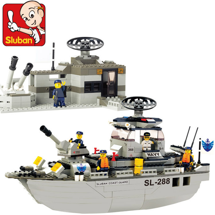 ФОТО model building kits compatible with lego city navy ship 709 3D blocks Educational model & building toys hobbies for children