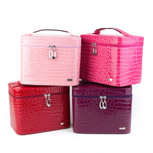 Guanya leather Jewelry box Zip