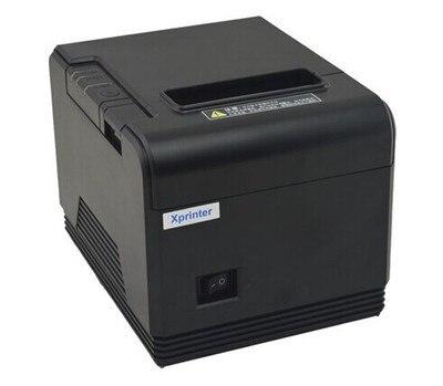 1 рулон термобумаги + Проводной сканер + 80 мм термальный чековый Небольшой билет штрих-код принтер POSQ200 автоматической резки принтер