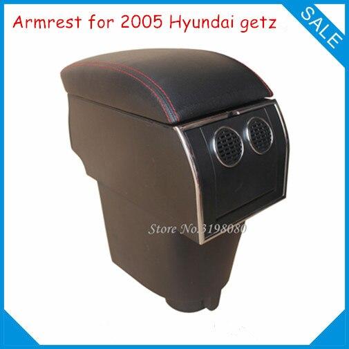 FOR 2005 Hyundai Getz 8pcs USB Armrest,Car center arm rest console box with hidden cup holder Car Accessories Parts