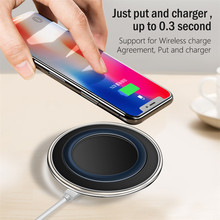 5V2A Qi Wireless Charger For Samsung S7 Edge S8 S9 Note 9 Wireless Charge For iPhone X 7 8 Plus Ultra-light Mobile Charging Pad sm8022a 5v2a