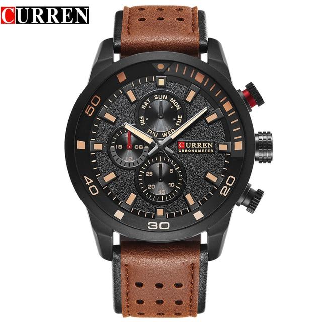 9dbbc1a2926 CURREN 8250 Homens Do Esporte De Quartzo Relógio de Forma Simples Homens  Relogio masculino Militar Relógios