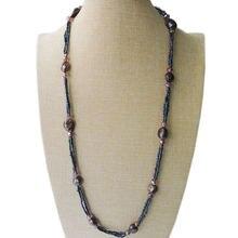 100% натуральный пресноводный жемчуг длинное ожерелье 70 см