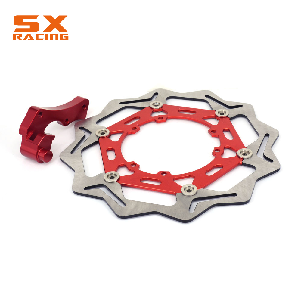 270MM Motorcycle Front Floating Brake Disc And Bracket For HONDA CR125 CR250 CRE250 CRF250 CRF250R CRF250X CRF450R CRF450X cnc offroad mx clutch brake levers for honda cr125r 04 07 cr250r crf250r 04 06 crf450r 04 06 crf250x 04 16 crf450x 05 16