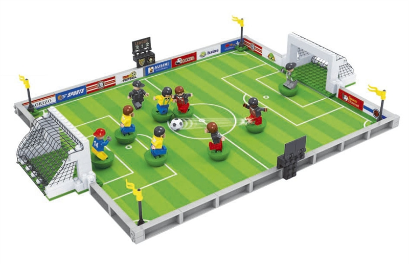 Model building kits compatible with lego city football series 3D blocks Educational model building toys hobbies for children 001 21004 f40 sports car model building kits compatible with lego 10248 city 3d blocks educational toys hobbies for children
