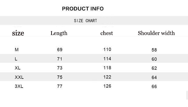 韩版短袖尺码表