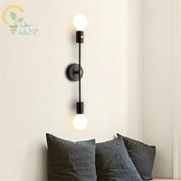 北欧の簡単なダブル Led ウォールライト現代の寝室のランプ鉄アートベッドサイドウォールランプためバー通路家庭の照明器具