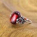 Серебряные ювелирные изделия Тайский серебряный plum Ms. гранат серебряное кольцо