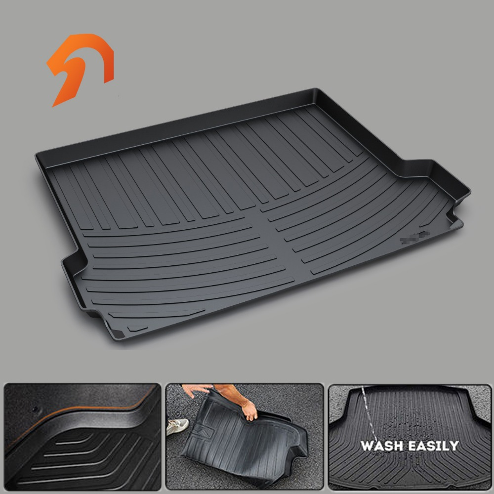 Rubber Rear Trunk Cargo Tray Trunk Cover Floor Mats FOR BMW F22 F45 F30 F31 E90 F10 F11 BOOT LINER REAR TRUNK CARGO TRAY MATS custom fit car trunk mats for nissan x trail fuga cefiro patrol y60 y61 p61 2008 2017 boot liner rear trunk cargo tray mats