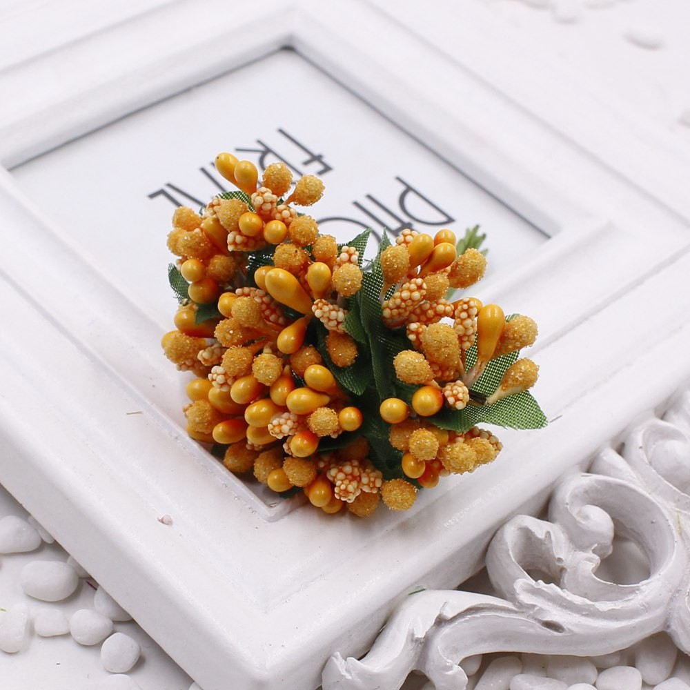 16 12pcs Berry Artificial Stamen Handmade Flower For Wedding Home Decoration Pistil DIY Scrapbooking Garland Craft Fake Flower 13
