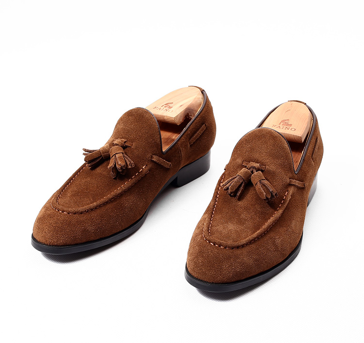 Khaki/brown comfortable real suede leather men's loafers round toe slip on tassel flats casual party shoes outdoor flats EU44 new women flats loafers casual fashion shoes for girls female slip on round toe comfortable sewing lazy shoes black green brown