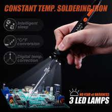 WEP 928D LED Digital  Adjustable Temperature Control Electric Soldering Iron Min Welding Handle Tool E110W E90W E65W