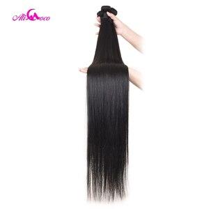 Image 2 - עלי קוקו שיער 30 אינץ 32 34 36 38 אינץ 40 אינץ חבילות לארוג ברזילאי שיער ישר רמי שיער טבעי צרור להתמודד טבעי צבע