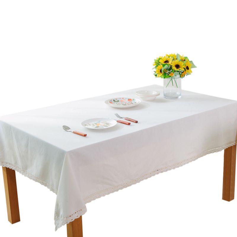 Plain Linen Rectangular Satin Table Cloth Dustproof Table Cover For Wedding Event &Party &Hotel & Restaurant Decoration