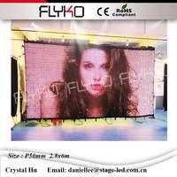 Lighters wholesale from china P50mm 2.8x6m indoor fullcolor curtain soft led display screen