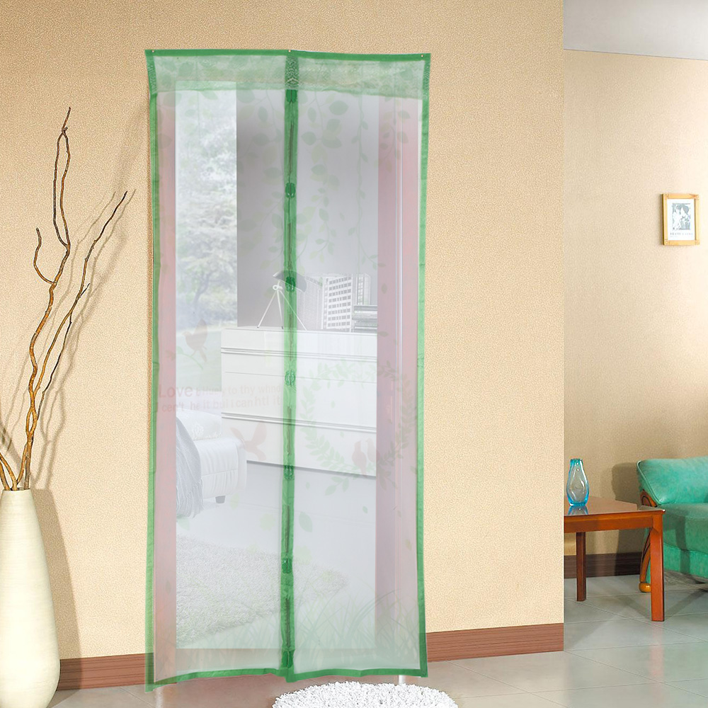 210 X 100/90 Cm Colorful Curtain Anti Mosquito Magnetic Tulle Shower Curtain  Automatic Closing