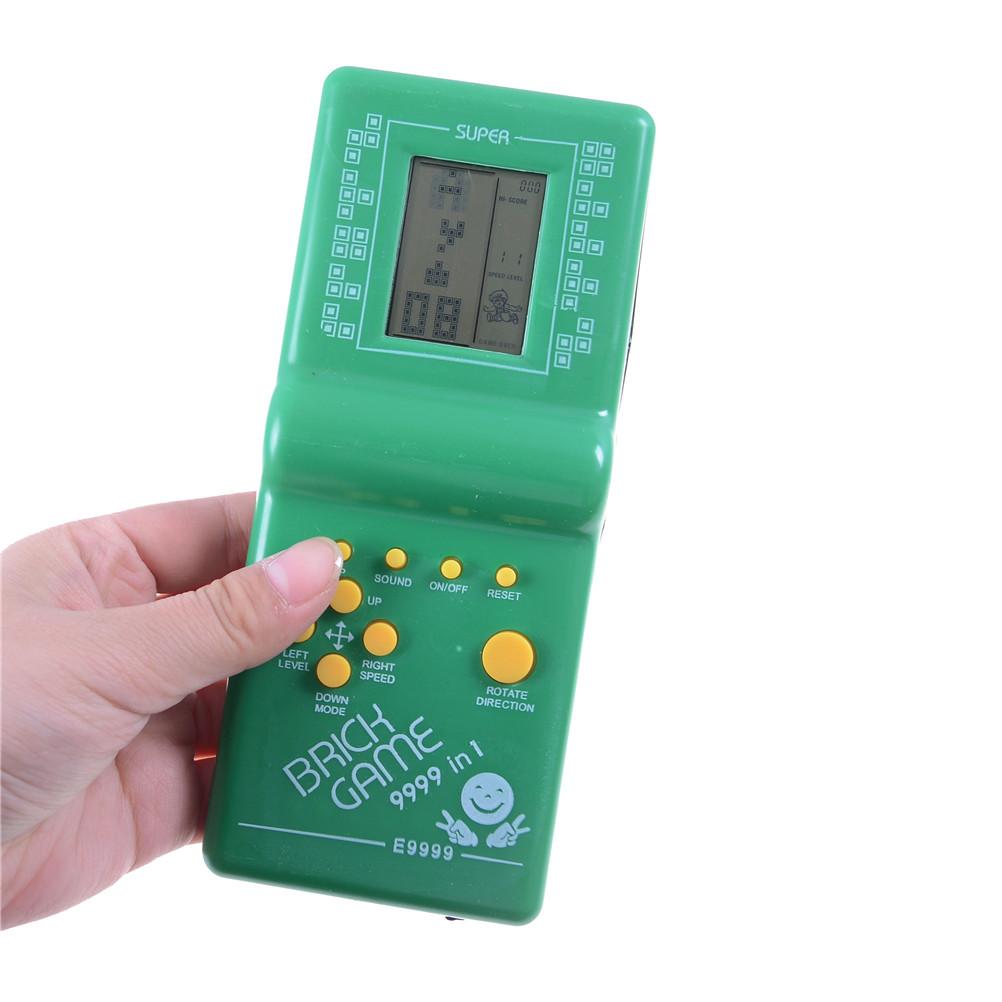 1Pcs Classic Handheld Electronic Game Machine Tetris Brick Game Kids Game Machine With Game Music Playback Without Battery