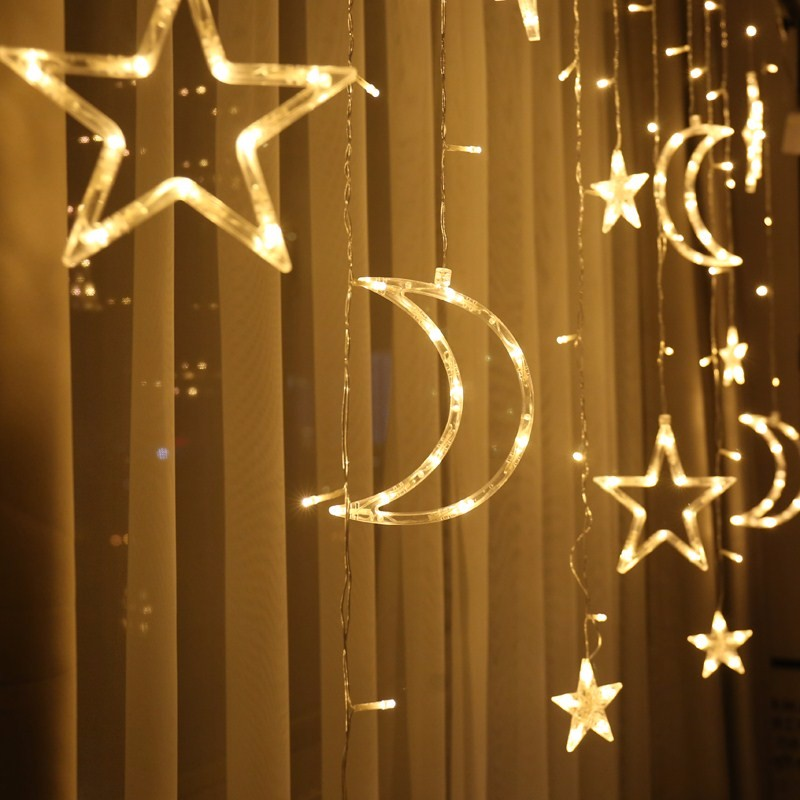 220V Battery Fairy star led curtain string wedding lights Garland holiday party wedding decoration fairy lights led holiday in LED String from Lights Lighting