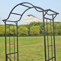 Садовые принадлежности Роза сад Арка завод восхождение Пергола проволока лотоса рама железная арка.