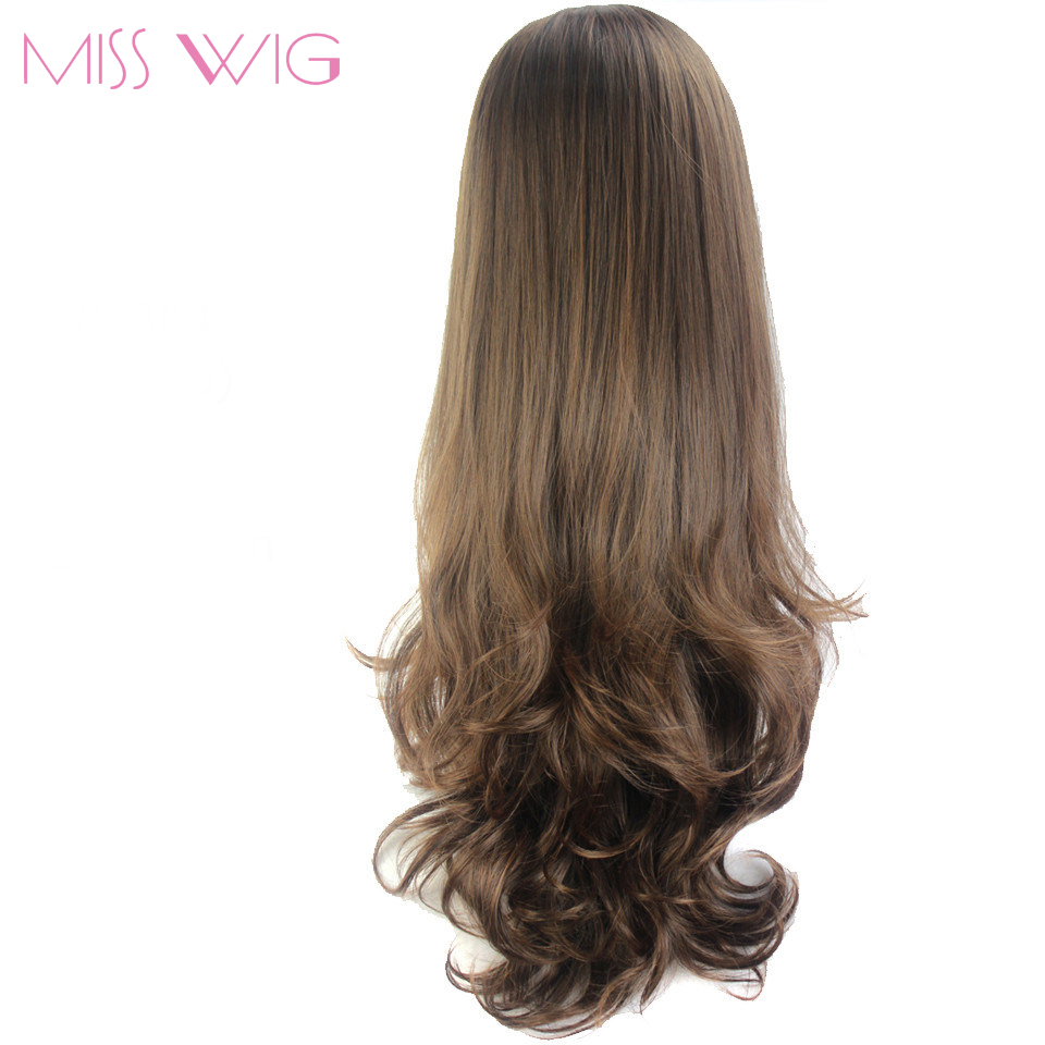 MISS WIG Long Wavy Half Wig 8Colors Available Synthetic Wigs For Women High Temperature Fiber None