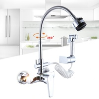 becola wall mounted kitchen faucet Cold and hot water sink mixer tap 360 swivel kitchen mixer B 9101 5