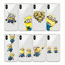 Phone Cases Despicable Me 3 Yellow Minions Design Soft Silicone Clear TPU Case Cover for Iphone XS MAX 5s SE 6S XR 6 7 8 Plus cute despicable me design hard pc and silicone back case cover for iphone 4 4s