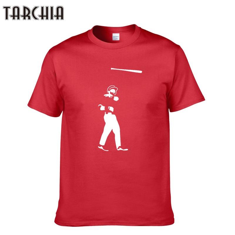 TARCHIA Cotton Men T-shirts Classical 2018 Short Sleeve O-Neck Print Slim Fit Basic Tshirt Casual Fitness Men T shirts Tees Tops