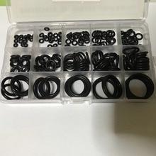 купить 200Pcs 15 Sizes Black NBR Rubber O Ring Box O Ring Gaskets O-Ring Kit Washer Sealing Assortment For Car дешево