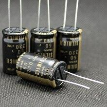10 قطعة/30 قطعة أصلية يابانية ELNA RFS SILMIC II 50 فولت 220 فائق التوهج ذهبي كلمة صوتية مُكثَّف كهربائيًا شحن مجاني